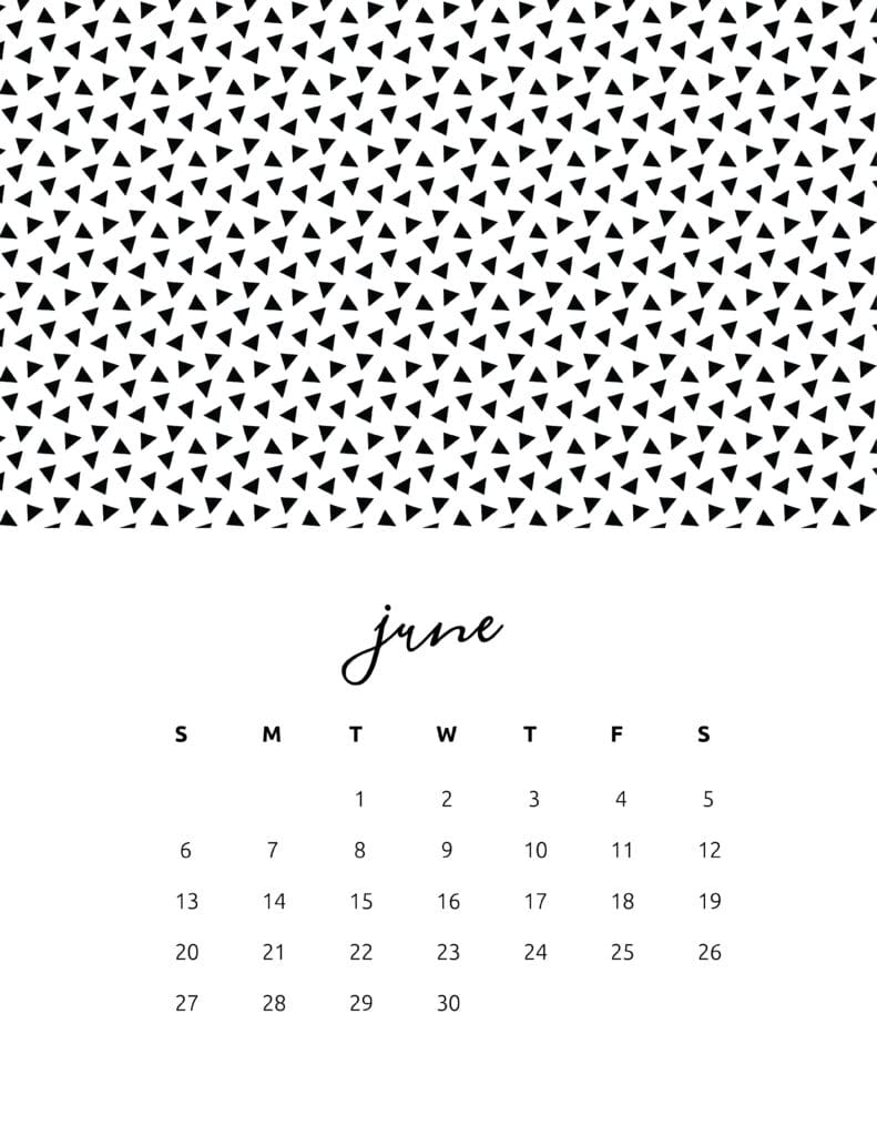 Free Printable June 2021 Calendar Patterns