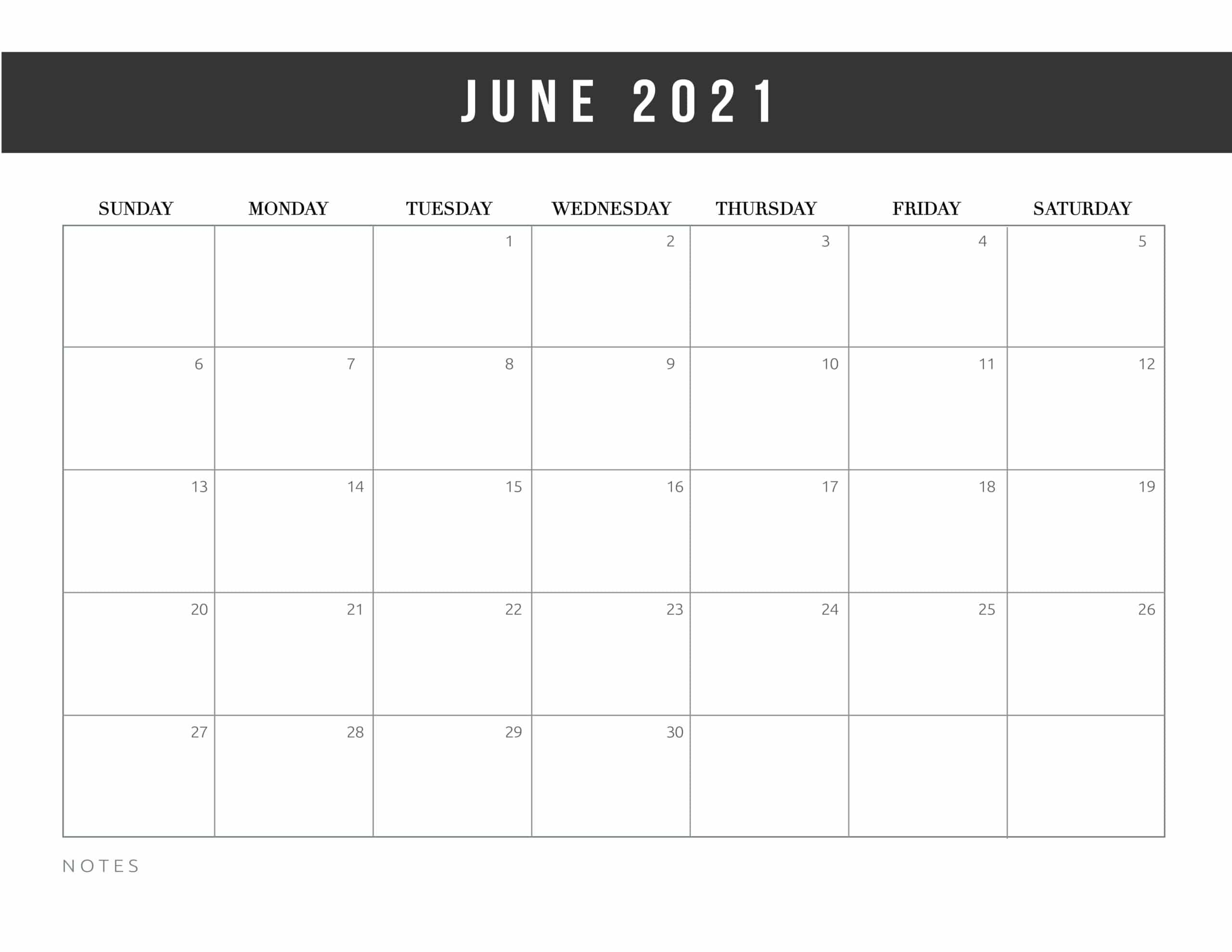 Free Printable June 15 Calendars - 15's of Styles - All Free!
