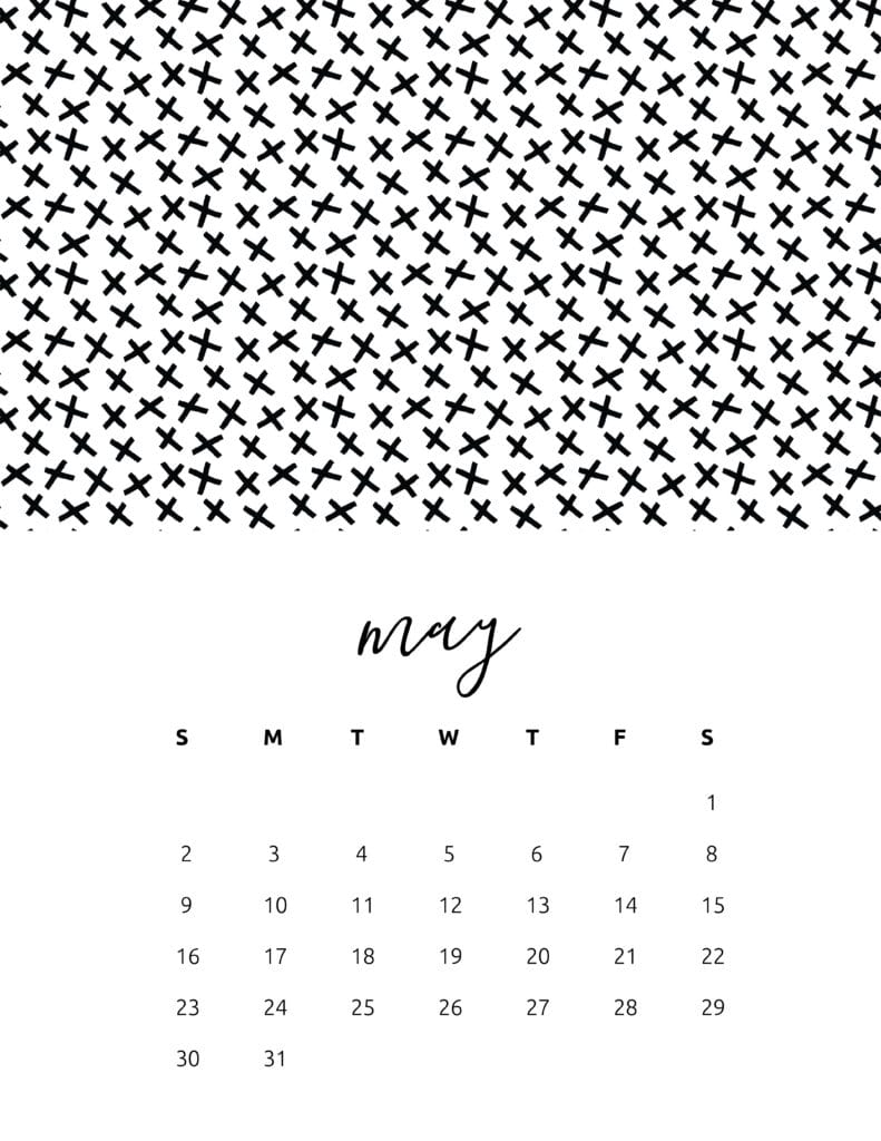 Free Printable May 2021 Calendar Patterns