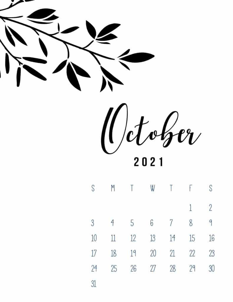 Free Printable September 2021 Calendar Botanical