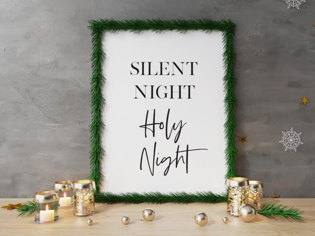 Free Silent Night Holy Night printable wall art
