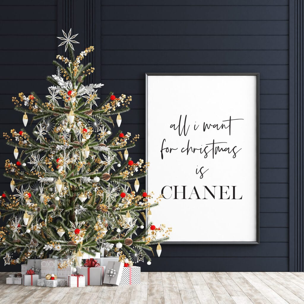 Free Chanel Print - All I want for Christmas is Chanel