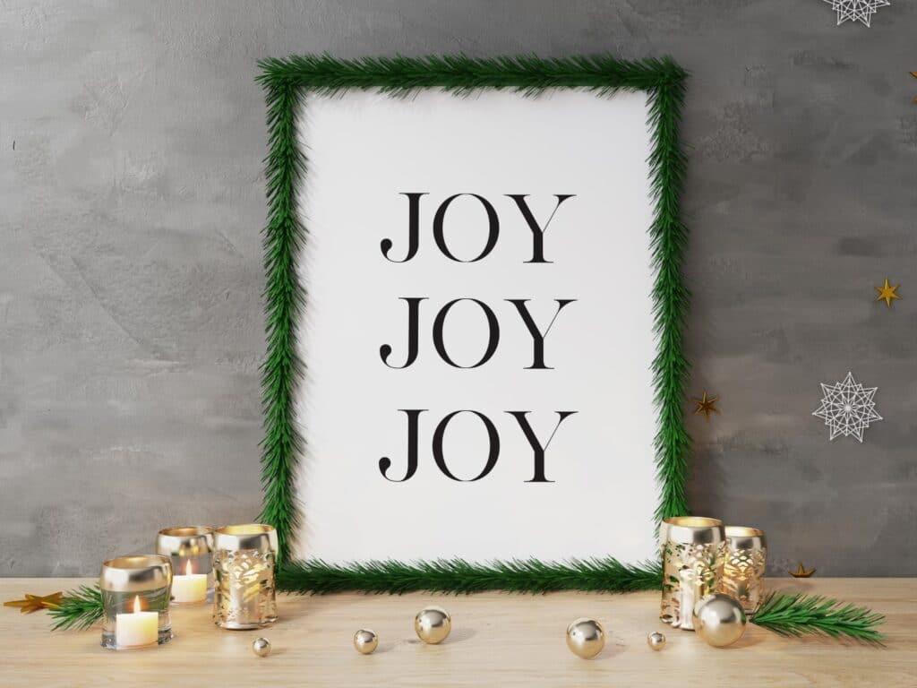Free joy printable wall art
