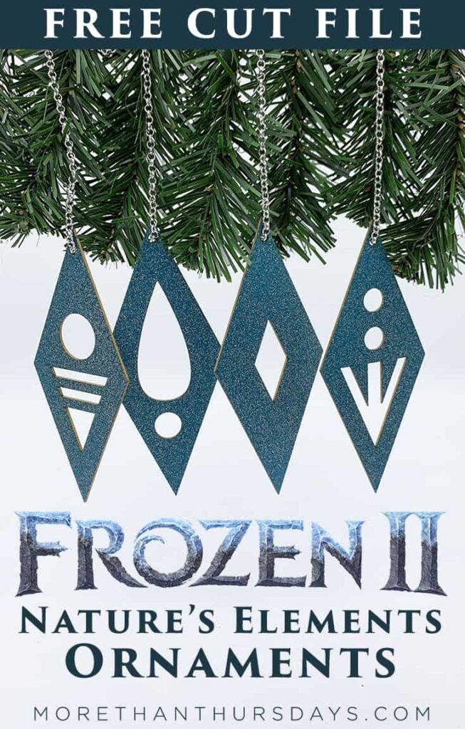 Frozen 2 Nature's Elements Ornaments