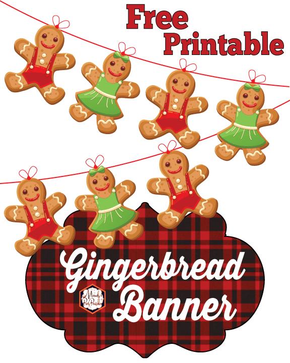 free printable gingerbread banner