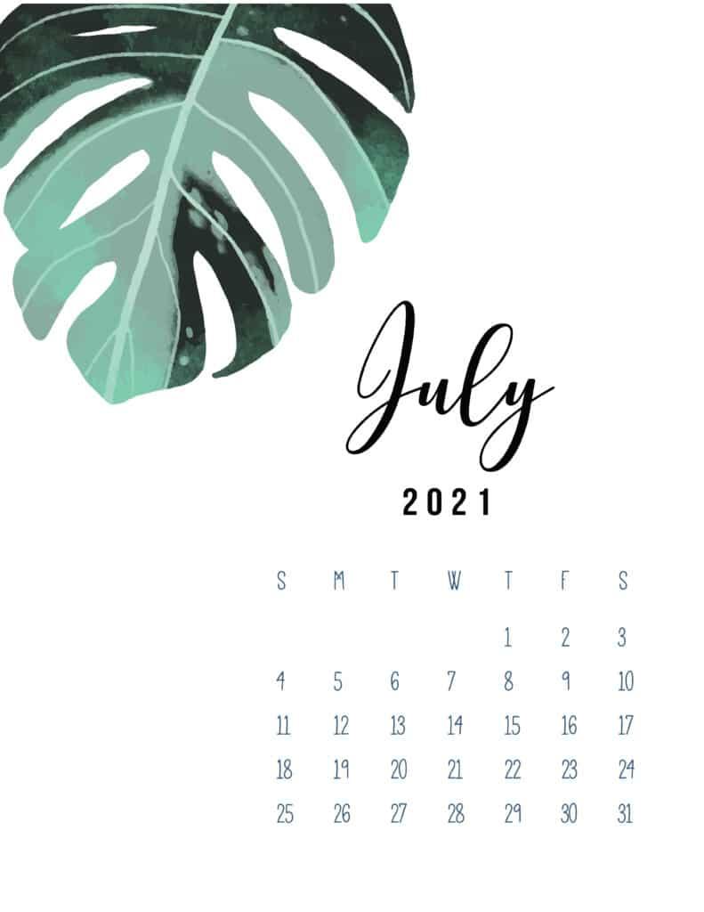 July 2021 Botanical Calendar