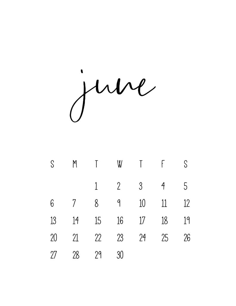 June 2021 Calendar Free Printable Template