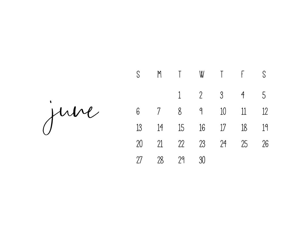 June 2021 Calendar Printable Free Template