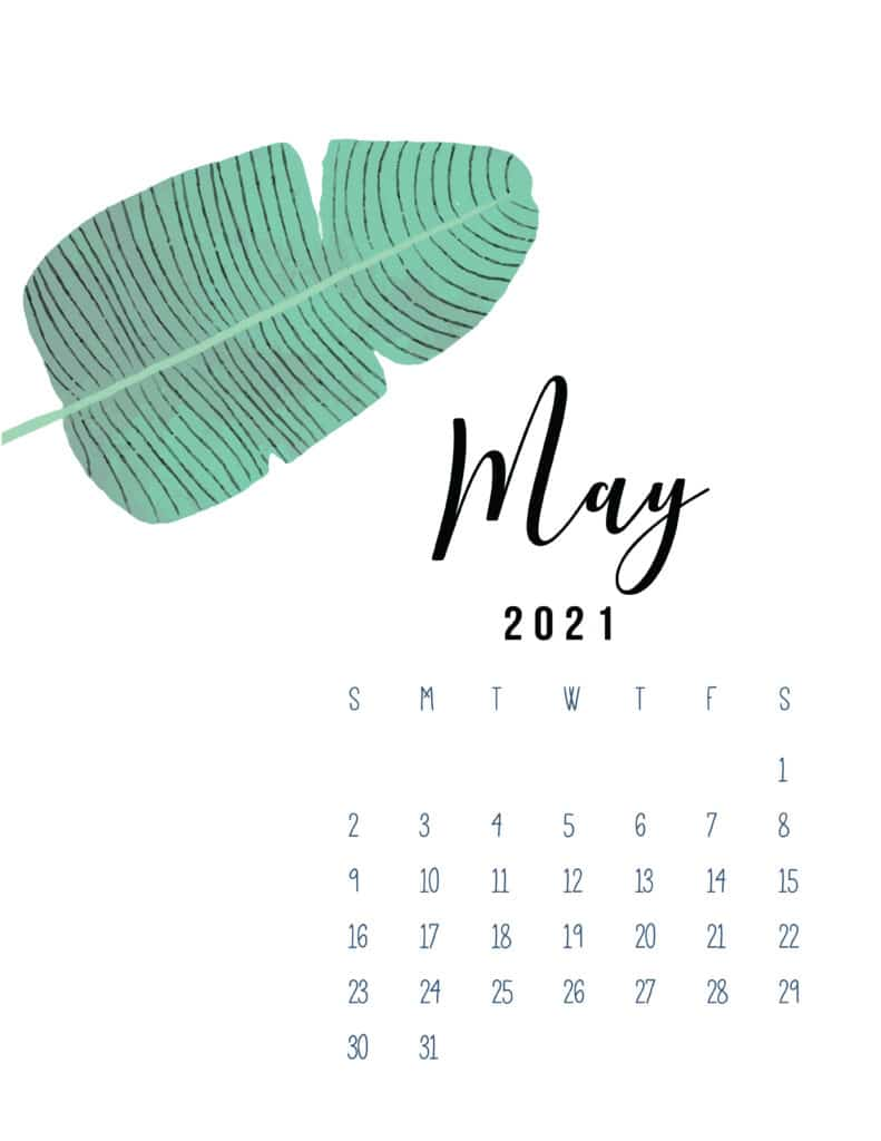 May 2021 Botanical Calendar