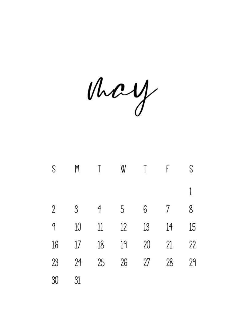 May 2021 Calendar Free Printable Template