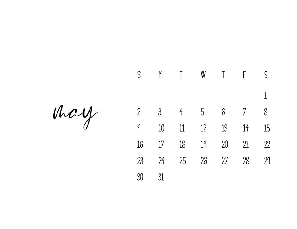 May 2021 Calendar Printable Free Template