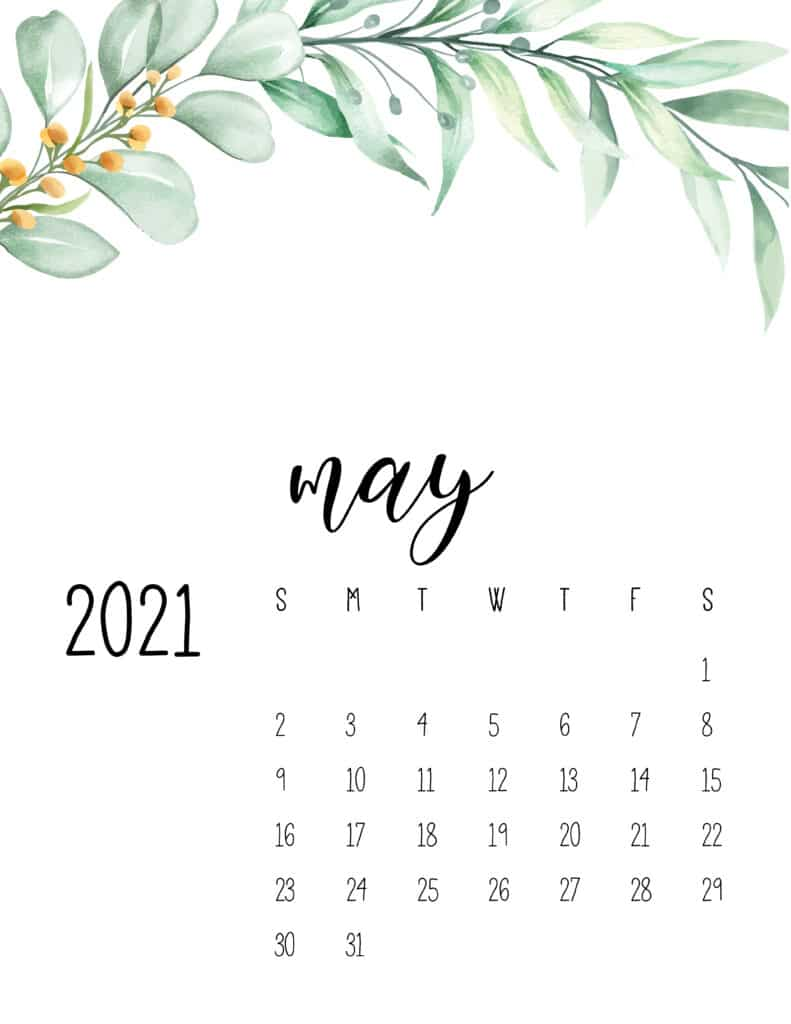 May 2021 Floral Calendar