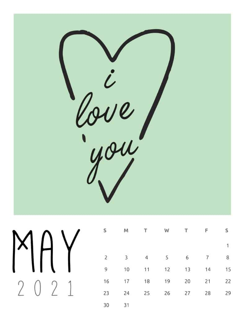 May 2021 Inspirational Quotes Calendar