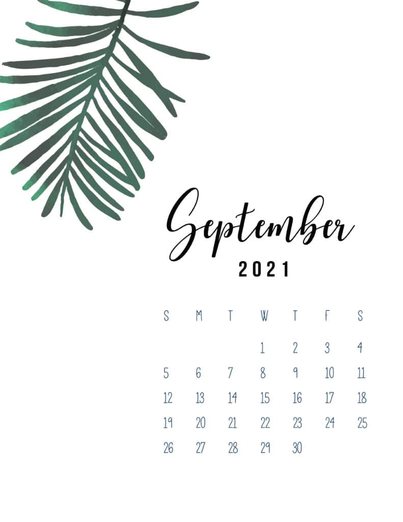 September 2021 Botanical Calendar