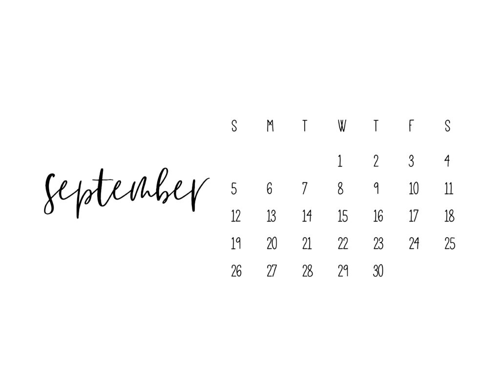 September 2021 Calendar Printable Free Template