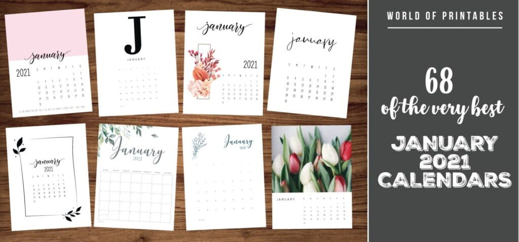 68 of the very best january 2021 calendars