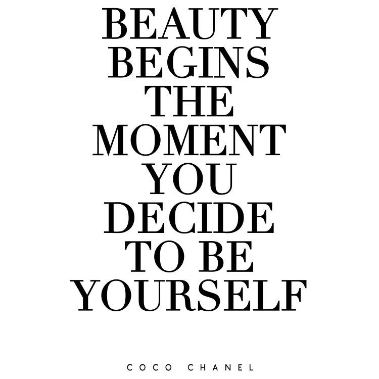 Beauty Begins the moment you decide to be yourself - Free SVG