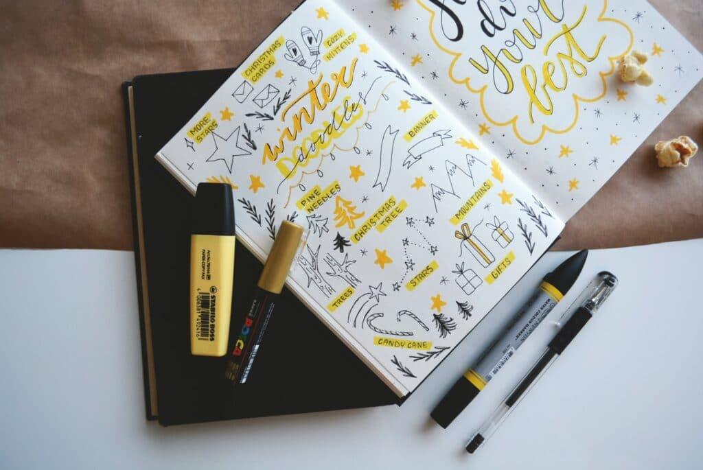 Bullet Journal spread idea