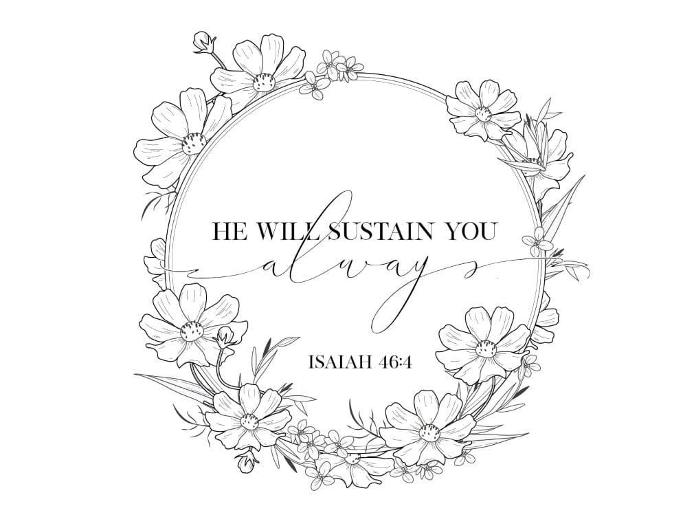 He will sustain you - Free Printable Christian Wall Art - Bible Verse, Scripture art   Bible verse prints, Bible verse wall art, Scripture art