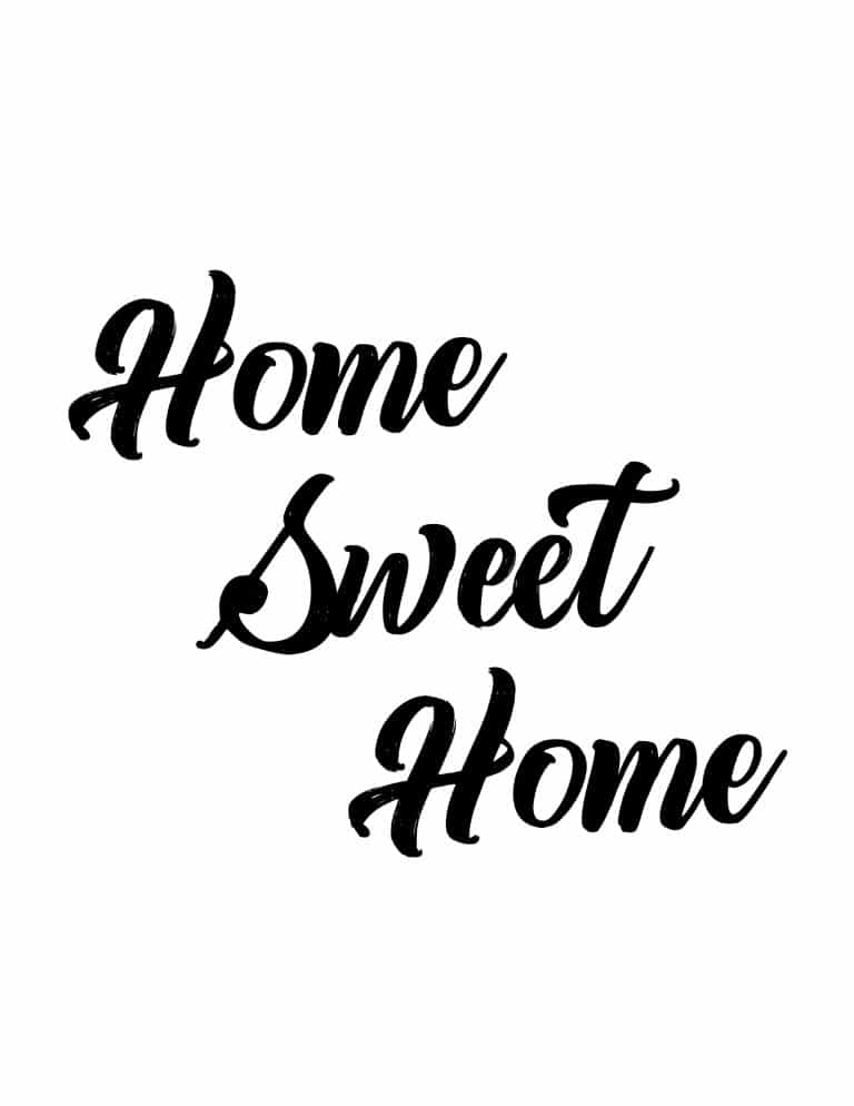 Home Sweet Home Art Print - Free Printable Wall Art. The perfect print to decorate your new home with or the perfect house warming gift.