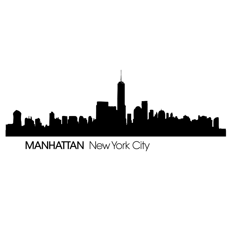 Manhattan New York City Skyline - Free SVG