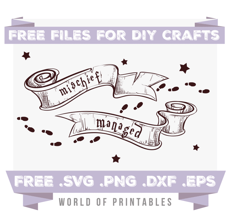 Mischief Managed Scrolls Free SVG Files PNG DXF EPS
