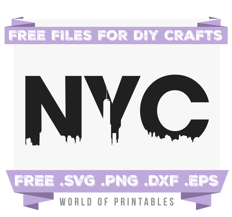NYC Skyline Free SVG Files PNG DXF EPS