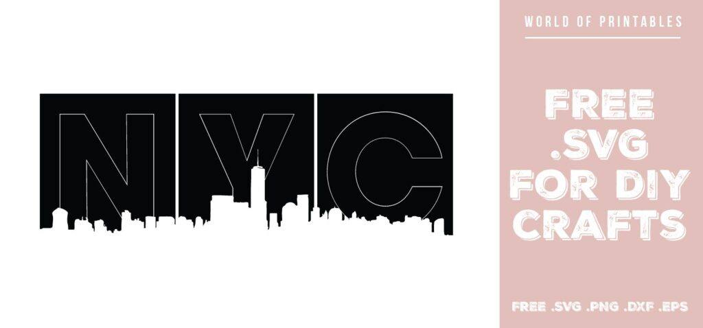NYC blocks - Free SVG file for DIY crafts and Cricut