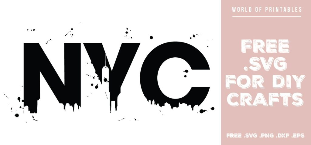 NYC paint splatters - Free SVG file for DIY crafts and Cricut