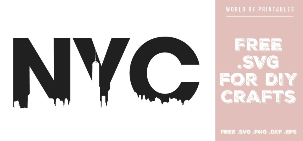 NYC skyline - Free SVG file for DIY crafts and Cricut