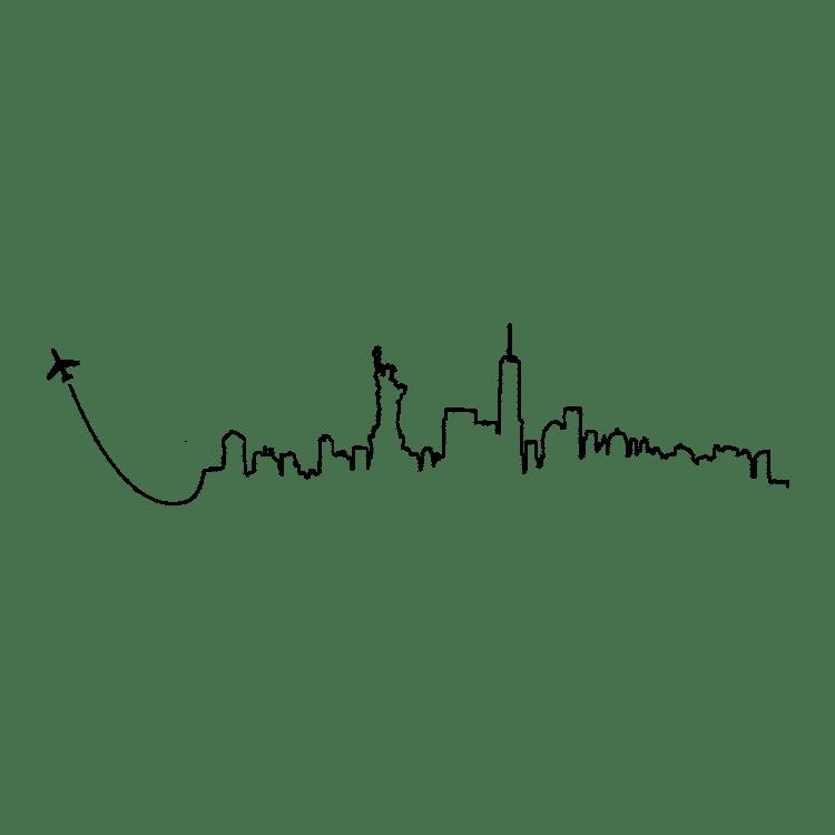 New York Skyline Fly Away - Free SVG