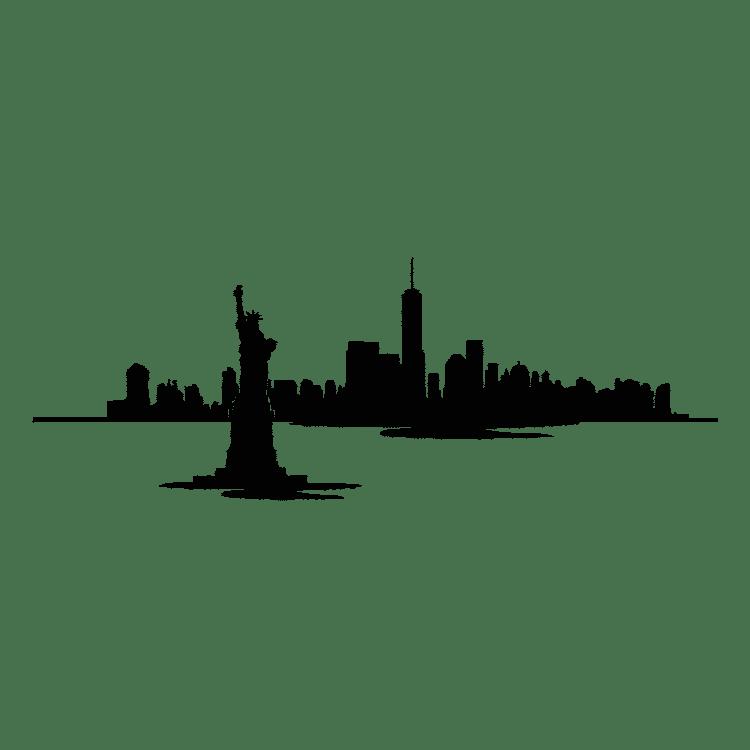 New York Skyline Waterfront - Free SVG