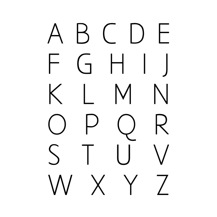 alphabet black- Free SVG