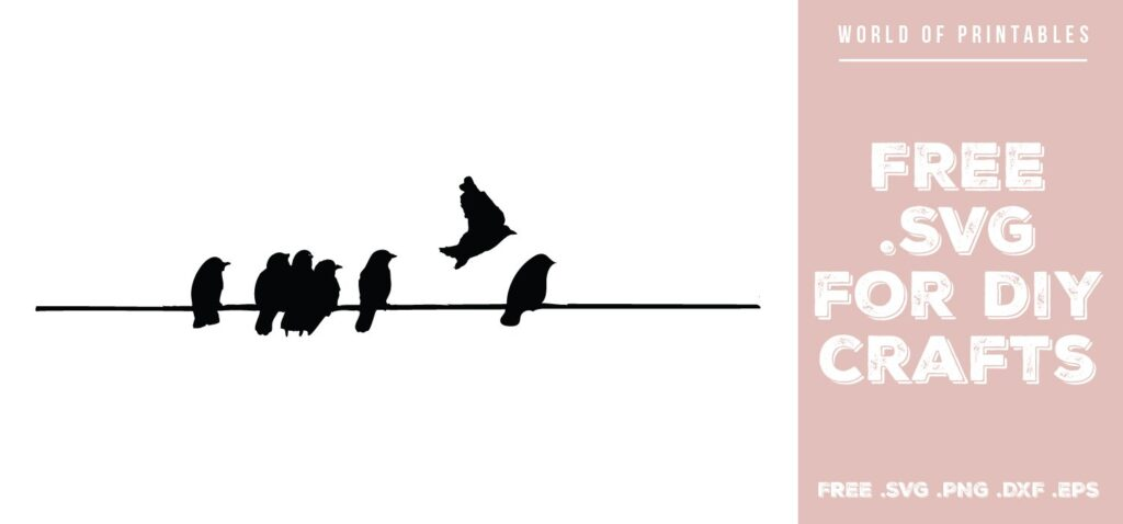 birds on a wire - Free SVG file for DIY crafts and Cricut
