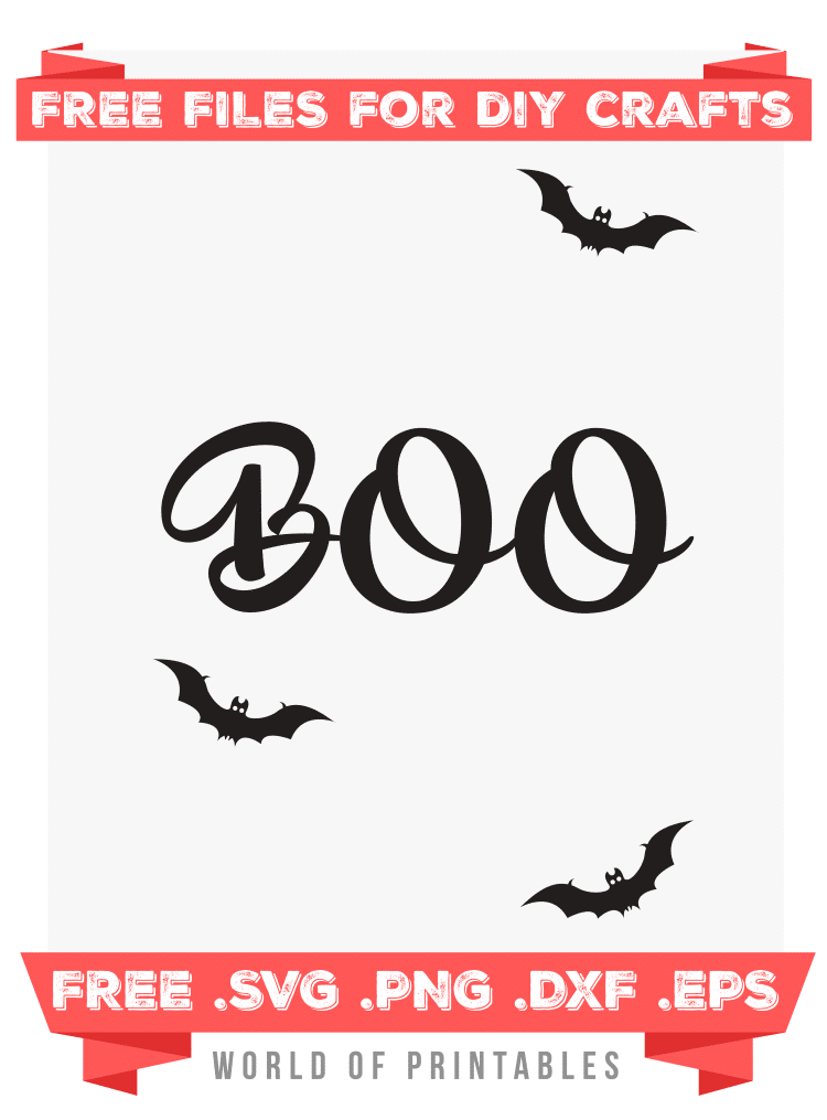 boo halloween Free SVG Files PNG DXF EPS