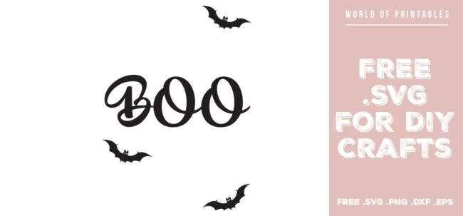 boo halloween - Free SVG file for DIY crafts and Cricut
