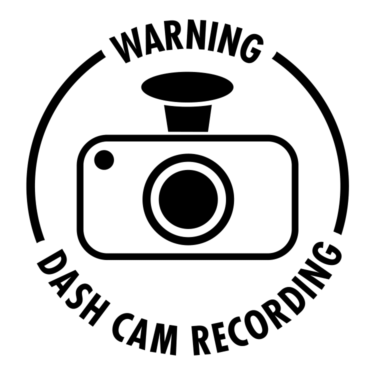 dash cam sign SVG