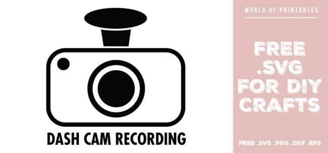 dash cam recording - Free SVG file for DIY crafts and Cricut
