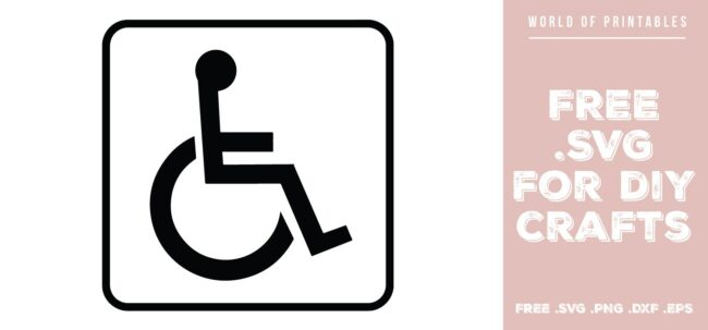 disabled wheelchair access sign - Free SVG file for DIY crafts and Cricut