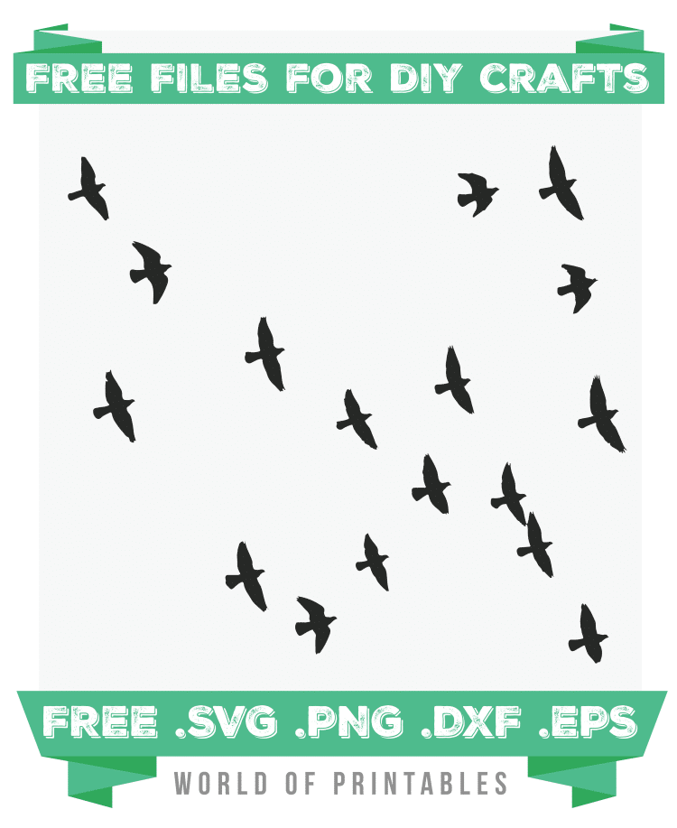 flock of birds flying Free SVG Files PNG DXF EPS