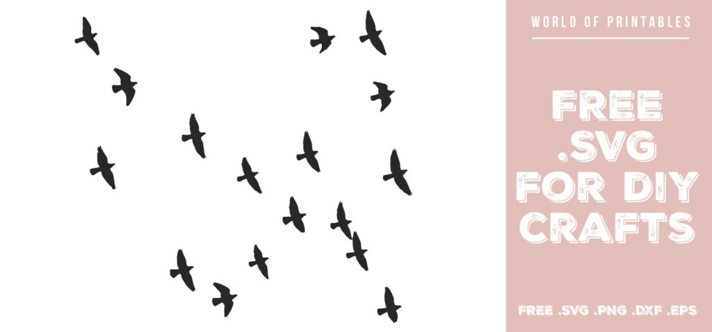 flock of birds flying - Free SVG file for DIY crafts and Cricut