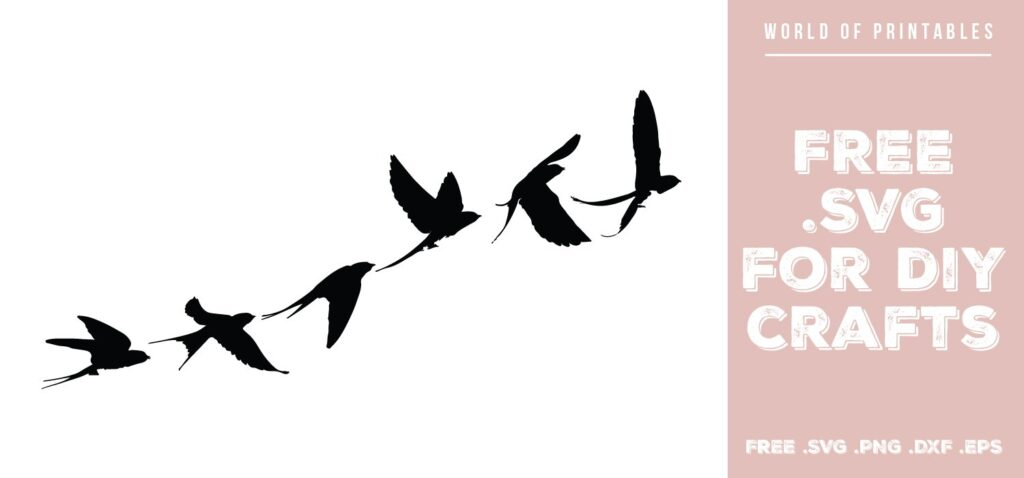 flock of flying birds - Free SVG file for DIY crafts and Cricut