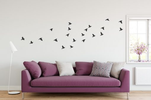 flying birds wall decal