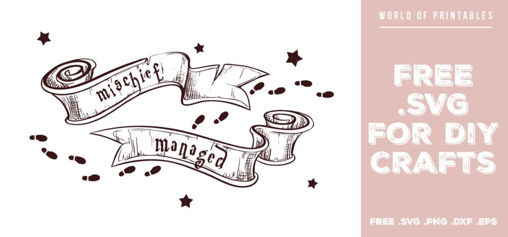 mischief managed scrolls - Free SVG file for DIY crafts and Cricut