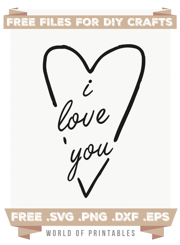 i love you Free SVG Files PNG DXF EPS