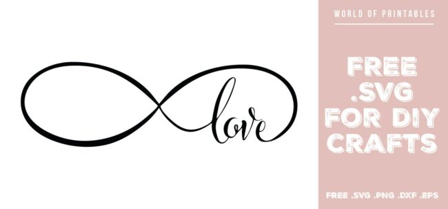 infinity love - Free SVG file for DIY crafts and Cricut