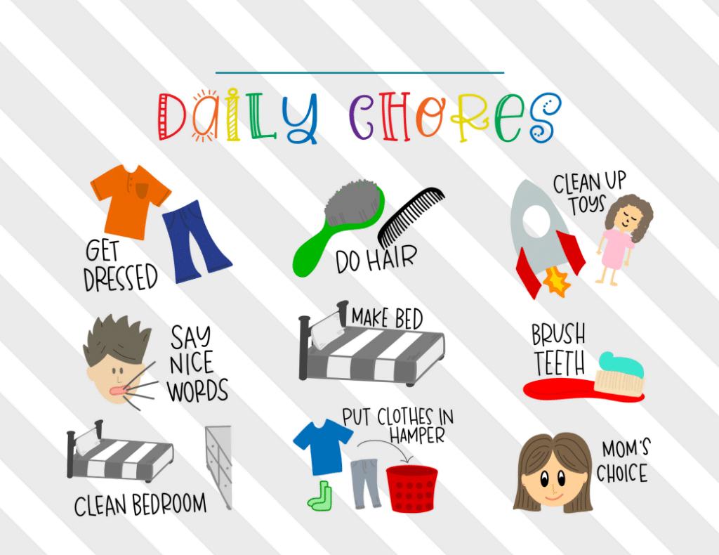 kids daily chore chart