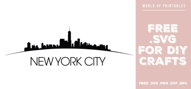 new york city curved - Free SVG file for DIY crafts and Cricut