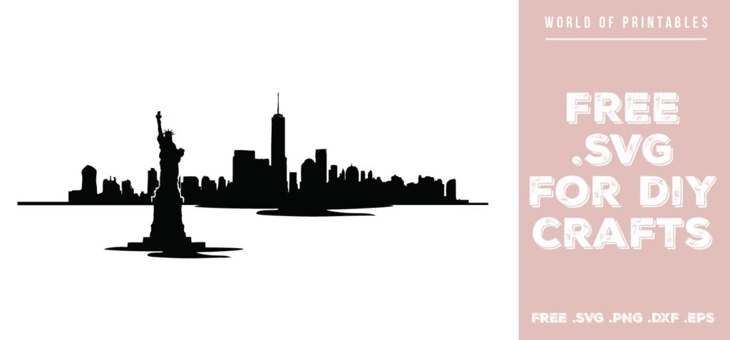 new york skyline waterfront - Free SVG file for DIY crafts and Cricut