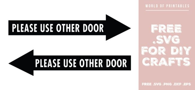 please use other door - Free SVG file for DIY crafts and Cricut
